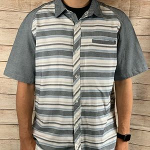 Native Code Mens Short Sleeve Button Down